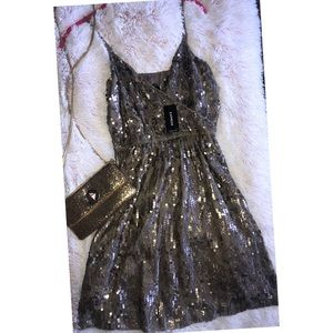 NWT EXPRESS   Sequin Mini Party Dress S P